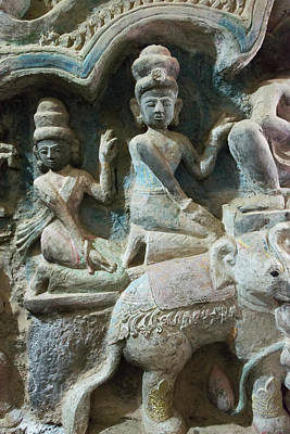 Carving Photograph - Stone Carving In Shitthaung Temple by Keren Su