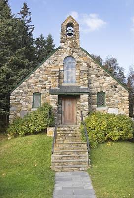 Stone Church At Ocean Point Maine Art Print by Keith Webber Jr