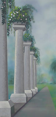 Painting - Stone Columns by Dominic Sanson