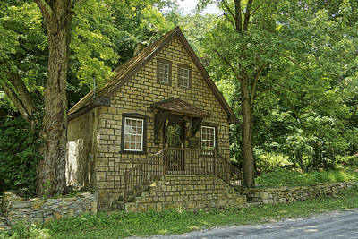 Photograph - Stone Cottage In Elsah Il by Greg Kluempers