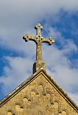 Photograph - Stone Cross by Charles Lupica