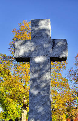 Photograph - Stone Cross In Autumn by Deb Buchanan