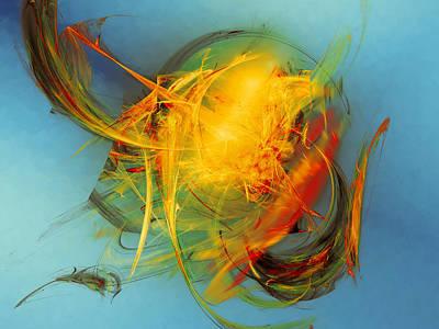 Mind Bending Digital Art - Stone Derivitive by Jeff Iverson