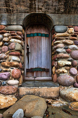 Stone Buildings Photograph - Stone Door by Peter Tellone