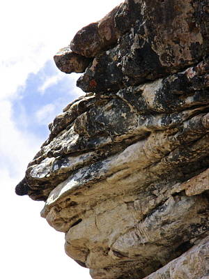 Photograph - Stone Face Piedra River Canyon by Jeff Gater