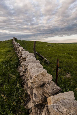 Photograph - Stone Fence  by Scott Bean