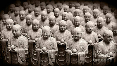 Photograph - Stone Figures Of Jizo by Eena Bo