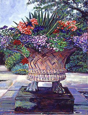 Featured Painting - Stone Garden Ornament by David Lloyd Glover