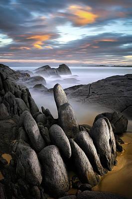 Australia Landscape Photograph - Stone Gathering - Grey Rocks by Francis Keogh