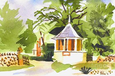 Stone Gazebo At The Maples Art Print by Kip DeVore