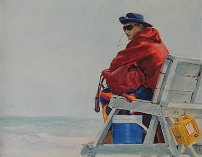 Stone Harbor Beach Patrol Lifeguard Original by Patty Kay Hall