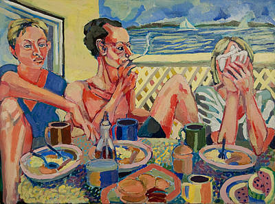 Painting - Stone Harbor Brunch by Doris  Lane Grey