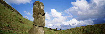 Megalith Photograph - Stone Heads, Easter Islands, Chile by Panoramic Images