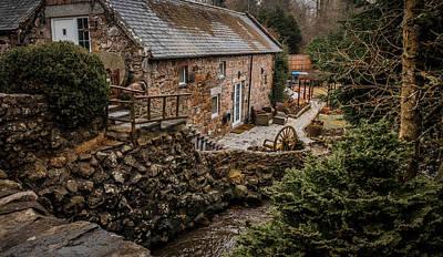 Stone Home By The Stream Art Print