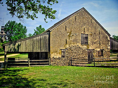 Vinatge Photograph - Stone Horse Barn by Colleen Kammerer