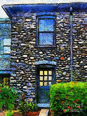 Connecticut Landscape Digital Art - Stone House In Chester by RC deWinter