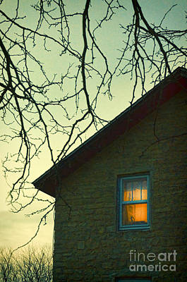 Photograph - Stone House In The Evening. by Jill Battaglia