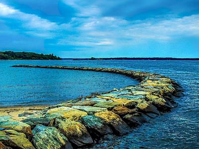 Photograph - Stone Jetty by Glenn Feron