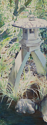 Stone Lantern Original by Christopher Reid