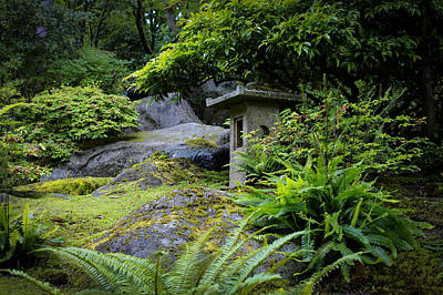 Photograph - Stone Lantern On The Hill by Andrew Pacheco