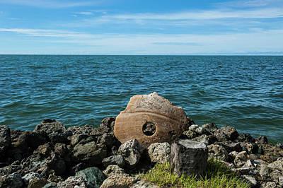 Caroline Wall Art - Photograph - Stone Money On The Island Of Yap by Michael Runkel