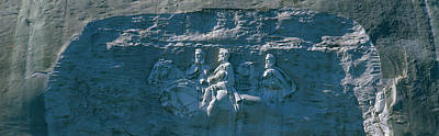 Confederate Monument Photograph - Stone Mountain Confederate Memorial by Panoramic Images