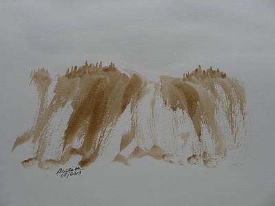 Painting - Stone Mountain Falls - Watercolor Sketch by Joel Deutsch
