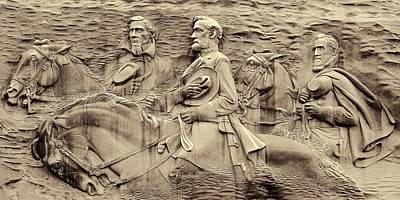 Stonewall Jackson Photograph - Stone Mountain Georgia by Dan Sproul