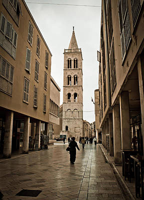 Photograph - Stone Paved Dalmatian Street In Zadar by Brch Photography