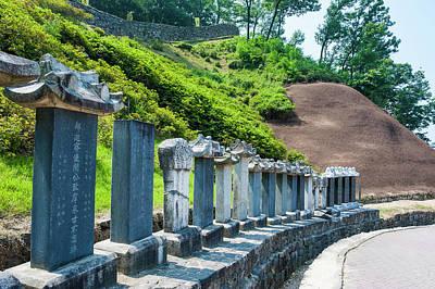 Asian Culture Photograph - Stone Pillars Leading by Michael Runkel