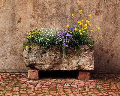 Kaysersberg Photograph - Stone Planter In Kaysersberg France by Greg Matchick