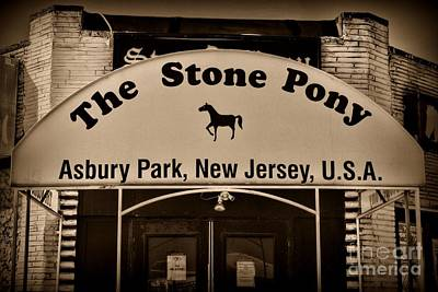Stone Pony Enter Here Art Print by Paul Ward