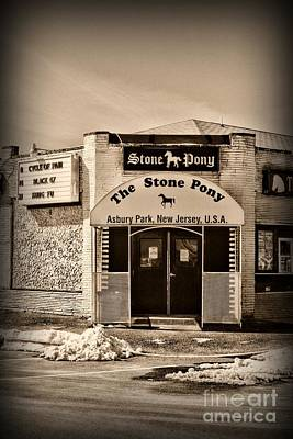 Bruce Springsteen Photograph - Stone Pony Front Door Retro by Paul Ward