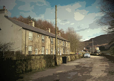 Found Art Drawing - Stone Row In Crowden, The Youth Hostel That Was Situated by Litz Collection