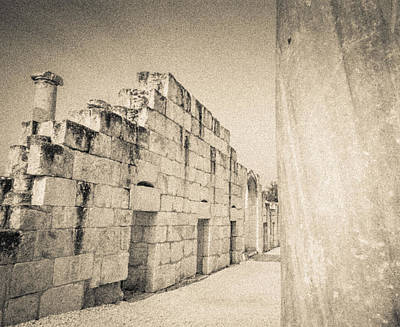 Photograph - Stone Ruins At Beit She'an by David Morefield