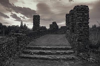 Stone Ruins At Old Liberty Park - Spokane Washington Art Print by Daniel Hagerman