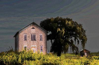 Photograph - Stone School by Bonfire Photography