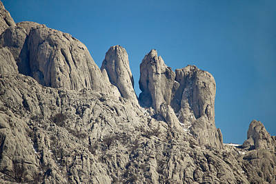 Photograph - Stone Sculptures Of Velebit Mountain by Brch Photography