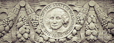 Photograph - Stone Seal Of The State Of Washington by Merle Junk
