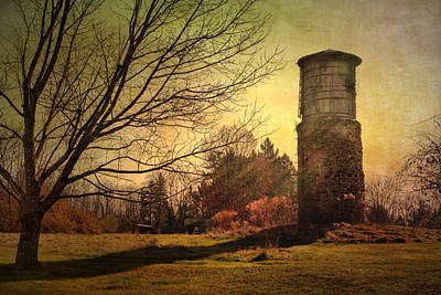 Stone Silo And Water Tower  Art Print