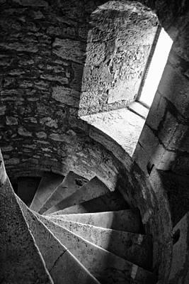 Stone Spiral Staircase Art Print by Georgia Fowler