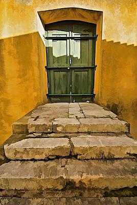 Stone Stair Entranceway  Art Print by David Letts