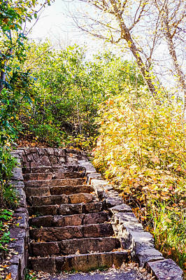 Day Photograph - Stone Staircase by Gloria Pasko