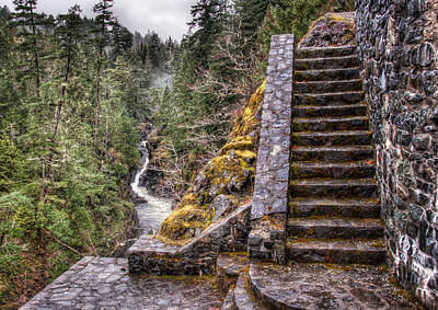 Stone Stairs To Nowhere Art Print by James Wheeler