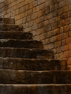 Photograph - Stone Stairs With Brick by Bob Coates