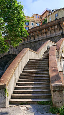 Photograph - Stone Stairway by Herb Paynter