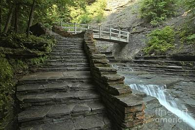 Photograph - Stone Steps At Stony Brook Gorge by Adam Jewell