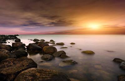 Stone - Sunset Original by Martin Slotta