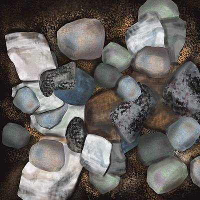 Stone Thoughts Art Print by Christine Fournier