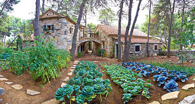 Photograph - Stone Village Garden With Vegetables by Brch Photography